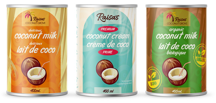 Raisa's coconut milks and cream