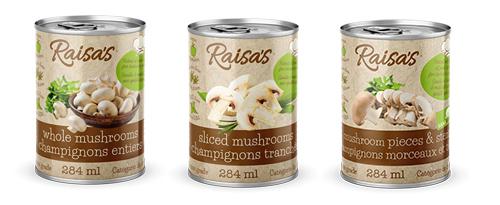 Raisa's canned mushrooms